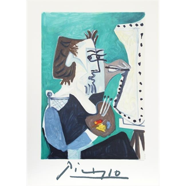 Pablo Picasso 14489 La Peintre, Lithograph on Paper 29 In. x 22 In. - Green, Brown, Gray - image 1 de 1