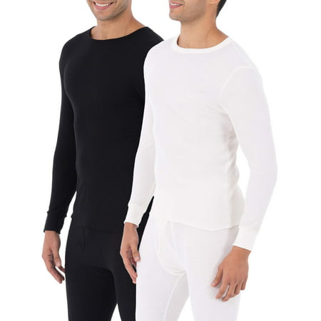 Argyle Thermal - Fruit of the Loom Big Men's Classic Crew Tops Thermal Underwear for Men, Value 2 Pack (2 Crew Shirts)