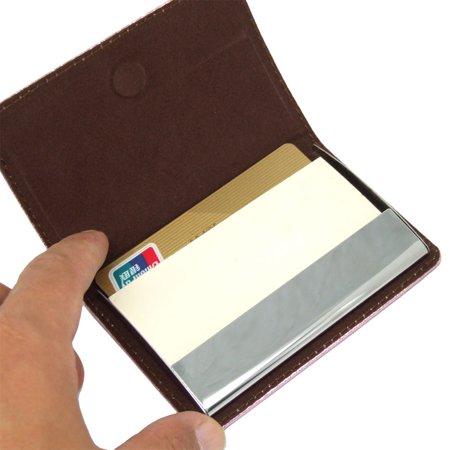 Lady's Card Holder for Business Card Credit Card Pink - image 1 de 2
