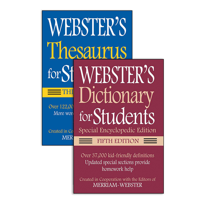 (3 EA) WEBSTER FOR STUDENTS DICTIONARY THESAURUS SET 5TH EDT