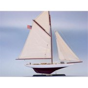 Handcrafted Model Ships D0404 Columbia Limited 25 in. Decorative Sail Boat