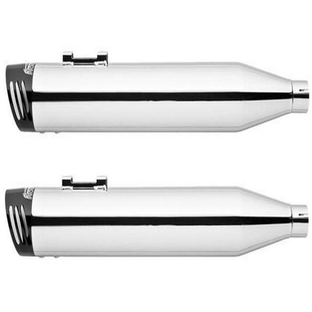 Freedom Performance Racing Slip-On Mufflers Chrome/Black HD00178 Harley Davidson ()