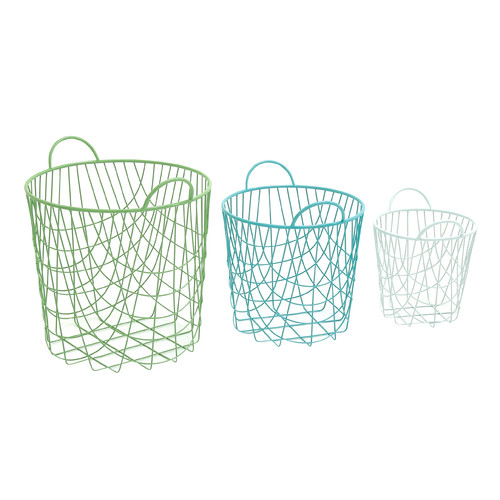 Woodland Imports Alluring 3 Piece Storage Basket Set by BENZARA