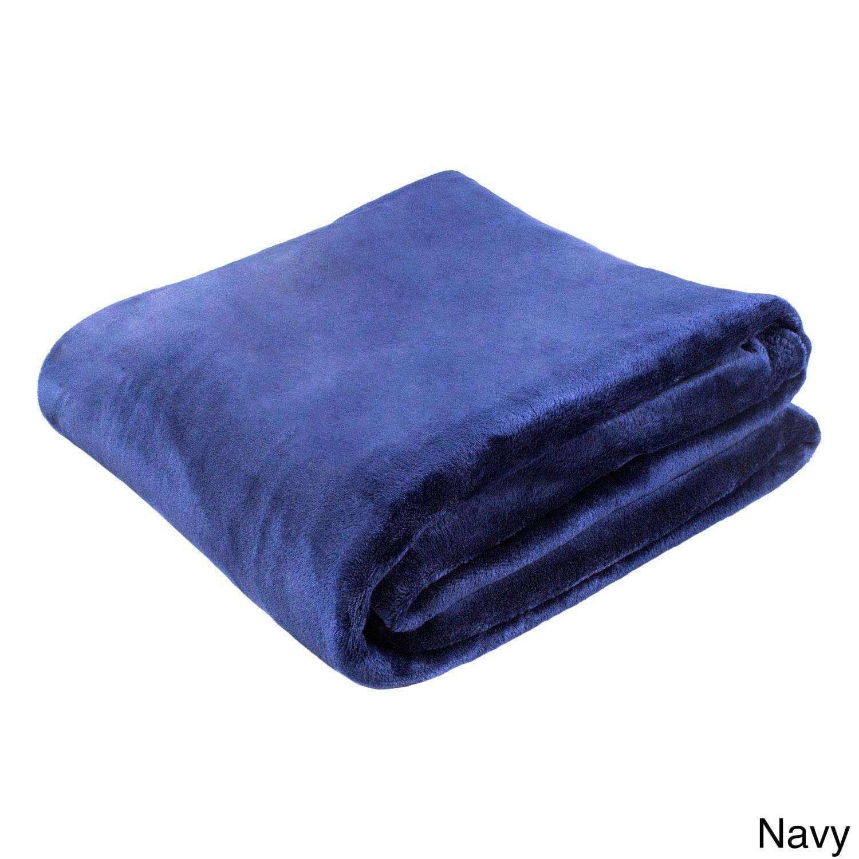 Cozy Fleece LLC Solid Super Soft Plush Oversized Throw