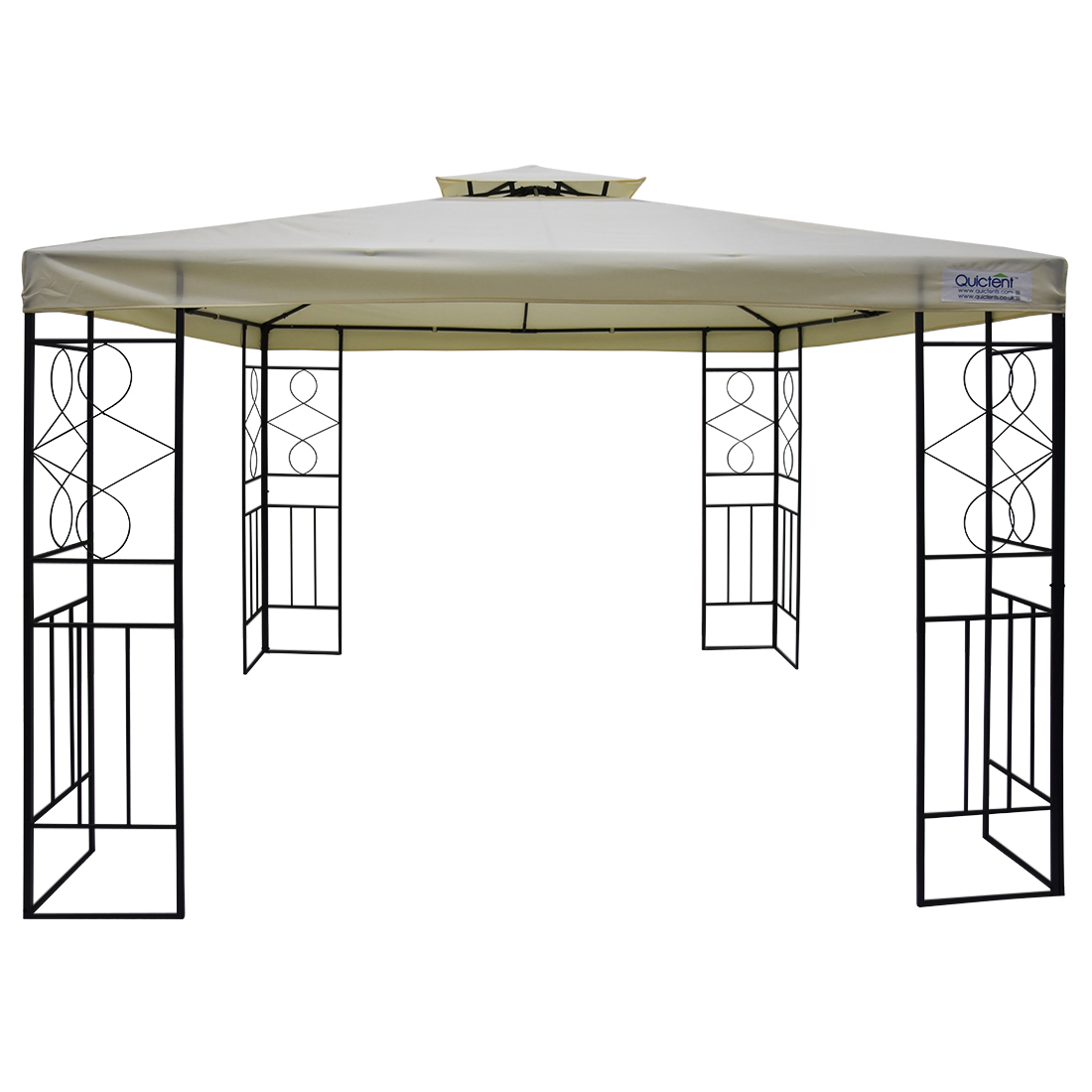 Quictent Metal Gazebo 10x10 ft Grill Gazebo Canopy Double Tier Roof Waterproof