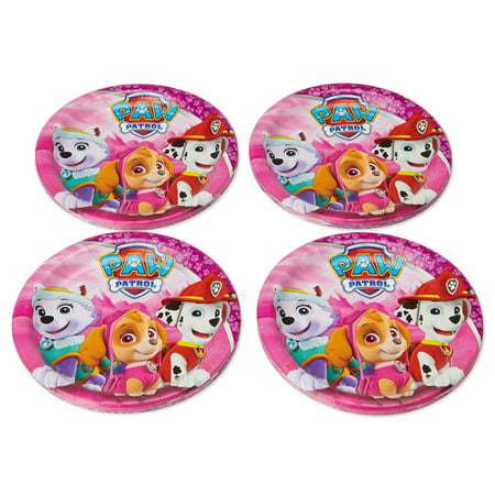 American Greetings PAW Patrol Girl Paper Dessert Plates, 36-Count