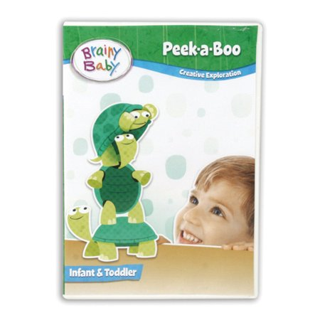 Brainy Baby Peek-a-Boo Infant DVD Inspiring Creative Exploration Deluxe (Brain Infant Learning Dvd)