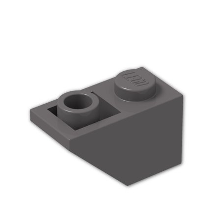 Brick Building Sets Original Lego Parts: Slope, Inverted 45º 2 x 1 (3665 - Pack of 8) (Dark Bluish Gray)