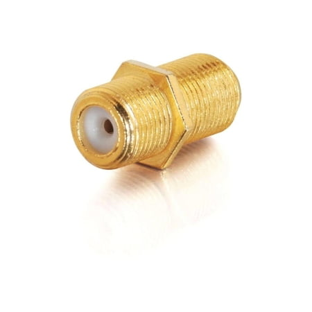 F-TYPE F/F VIDEO COUPLER (F-type Feed Through Gold Connector)