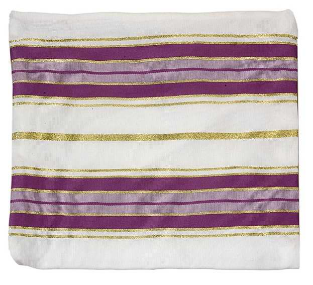 Tallit Bag-Acrylic-Purple Stripe