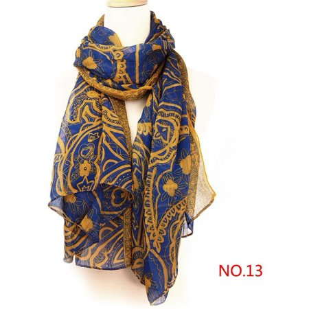 Cotton Neck Scarf (Girls Long Neck Scarf Warm Wrap Scarves Shawl Voile+Linen )
