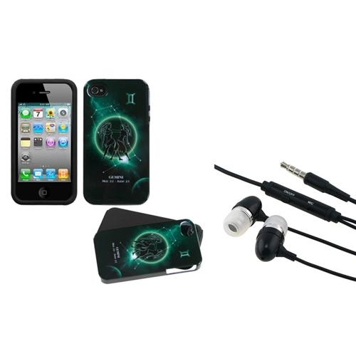 Insten Gemini Horoscope Collection Fusion Case For iPhone 4/4S + 3.5mm Headset