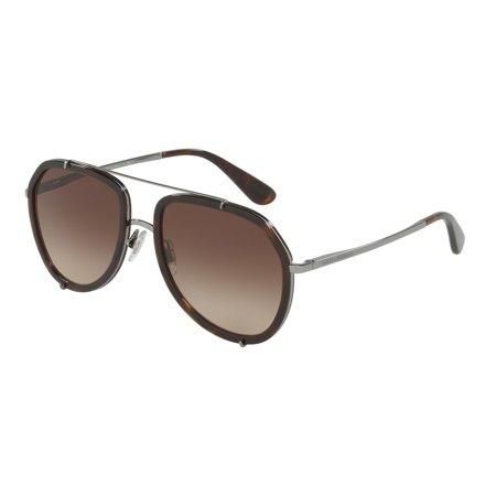 Dolce & Gabbana 0DG2161 Pilot Womens Sunglasses - Size 55 (Brown (Pilot Women)