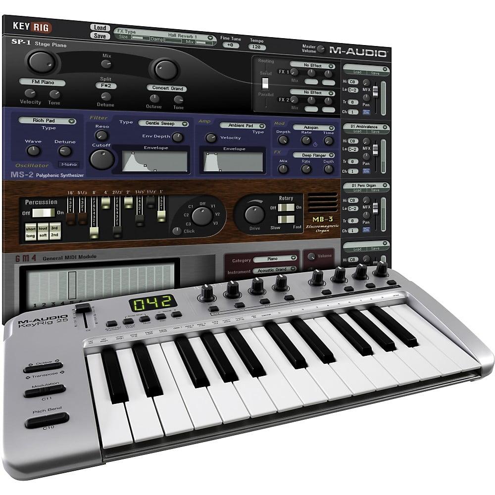 M-Audio KeyRig 25 MIDI Controller - Walmart com