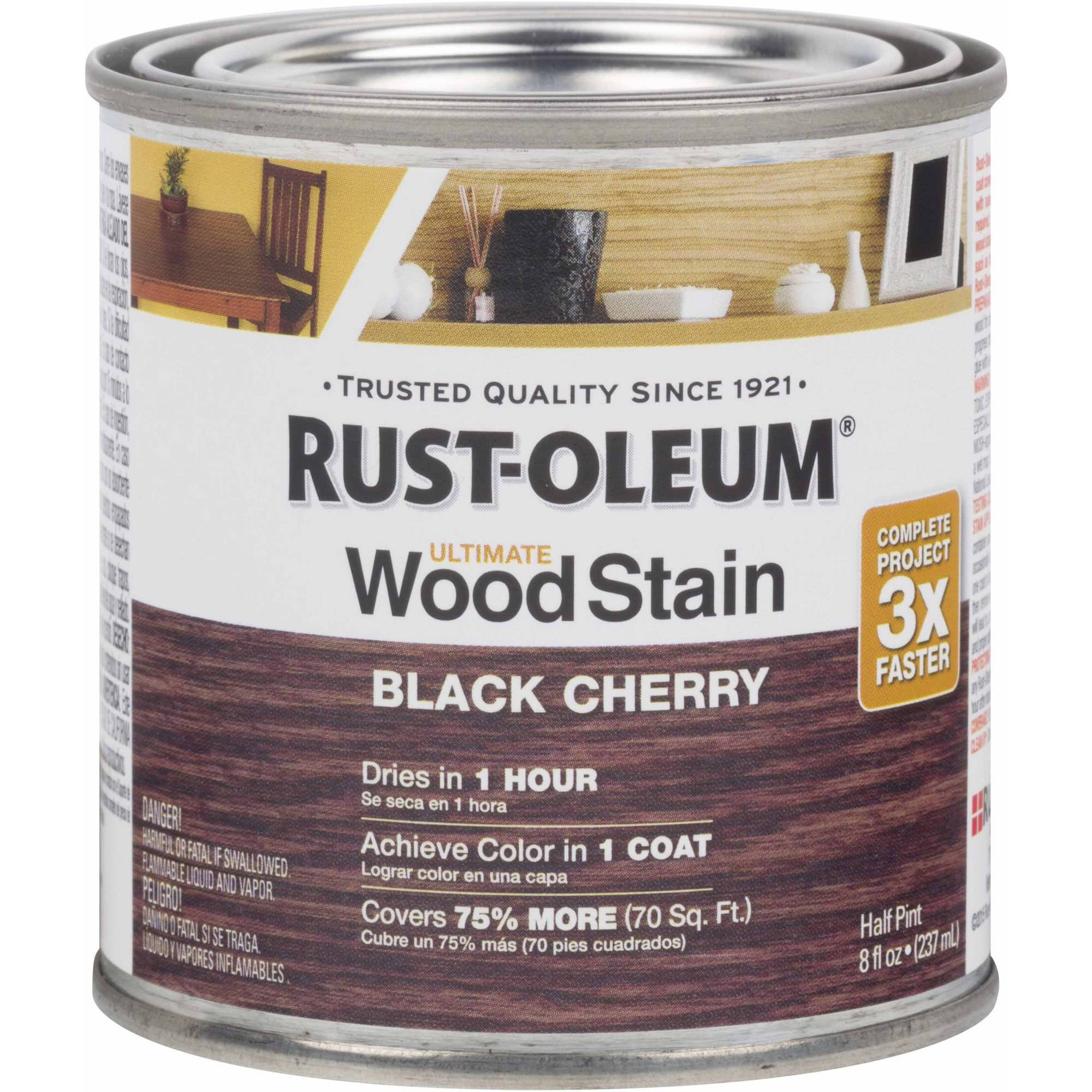 Rust-Oleum Ultimate Wood Stain Half-Pint, Black Cherry