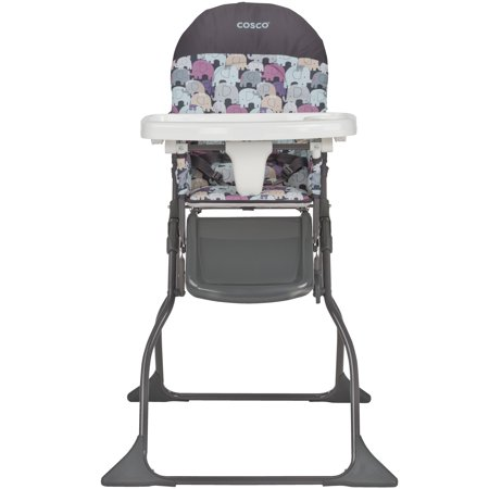 Oak High Chair Tray (Cosco Simple Fold Full Size High Chair with Adjustable Tray, Elephant)