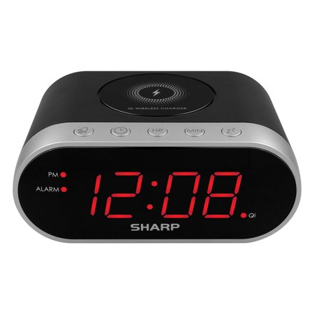 Sharp Qi Wireless Charging Digital Alarm Clock