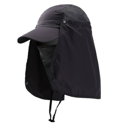 Outdoor Sport Hiking Visor Hat UV Protection Face Neck Cover Fishing Sun Protection Cap