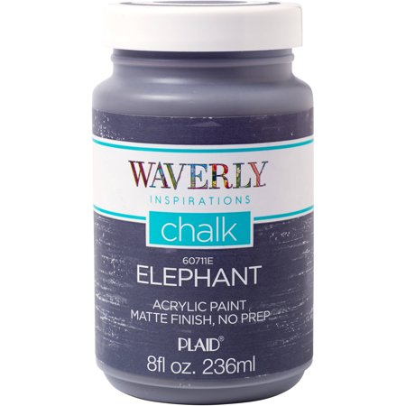 Waverly Inspirations Elephant Matte Chalk Finish Acrylic Paint, 1 Each, 8 Fl. (White Finish Ribbed Glass)