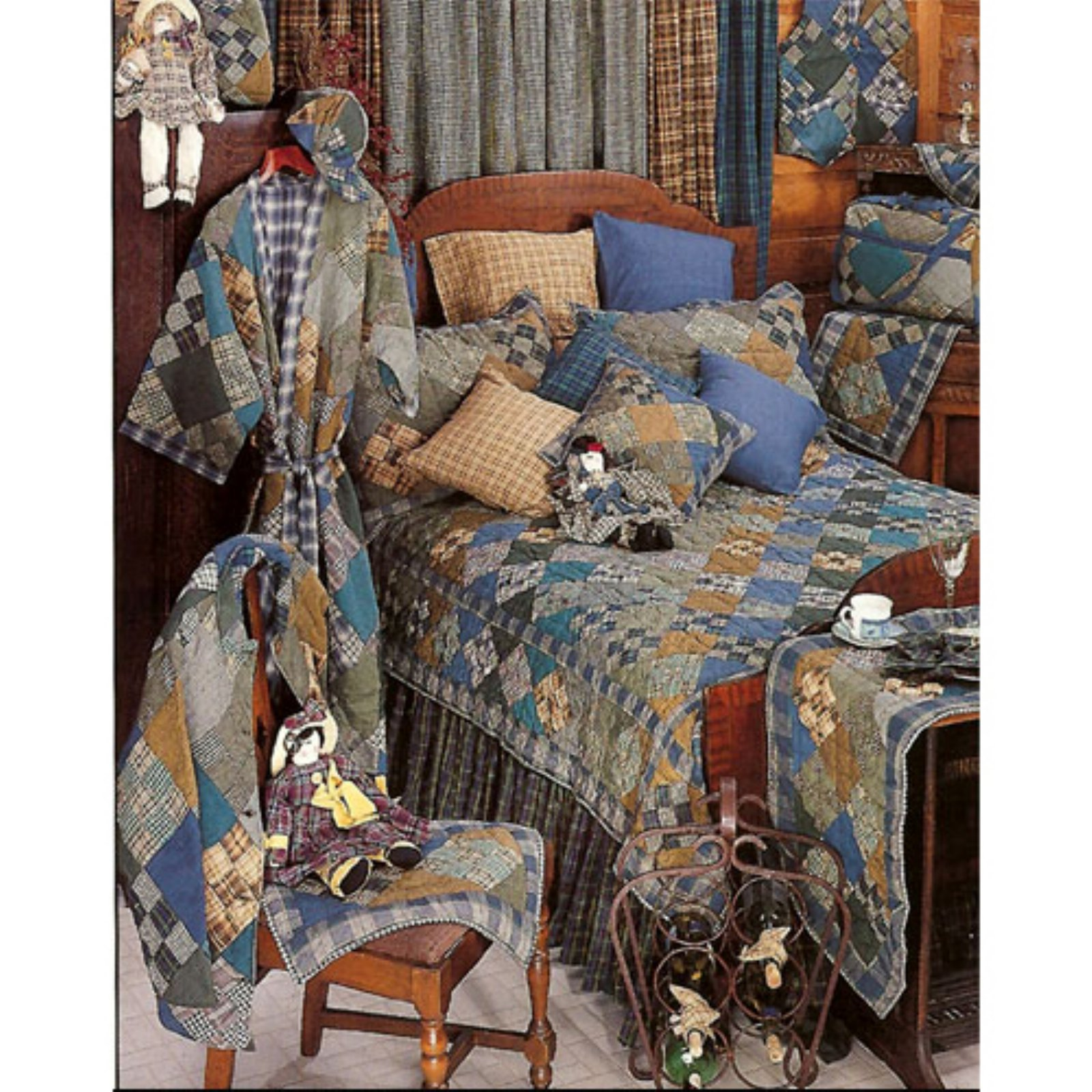 Chambray Nine Patch Quilt (Queen)