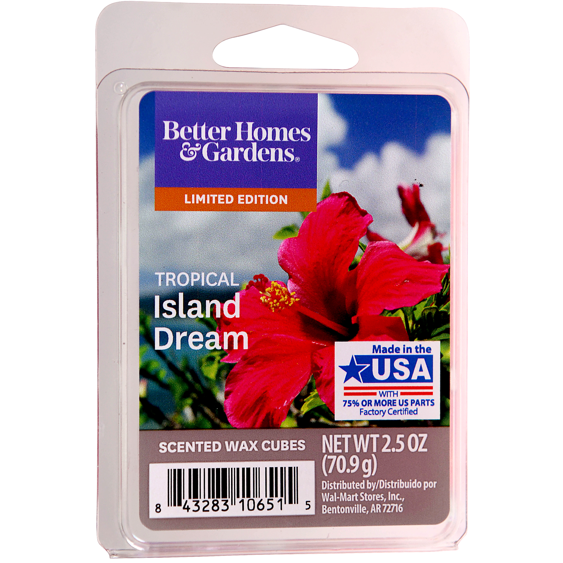 Better Homes and Gardens Scented Wax Cubes, Tropical Island Dream