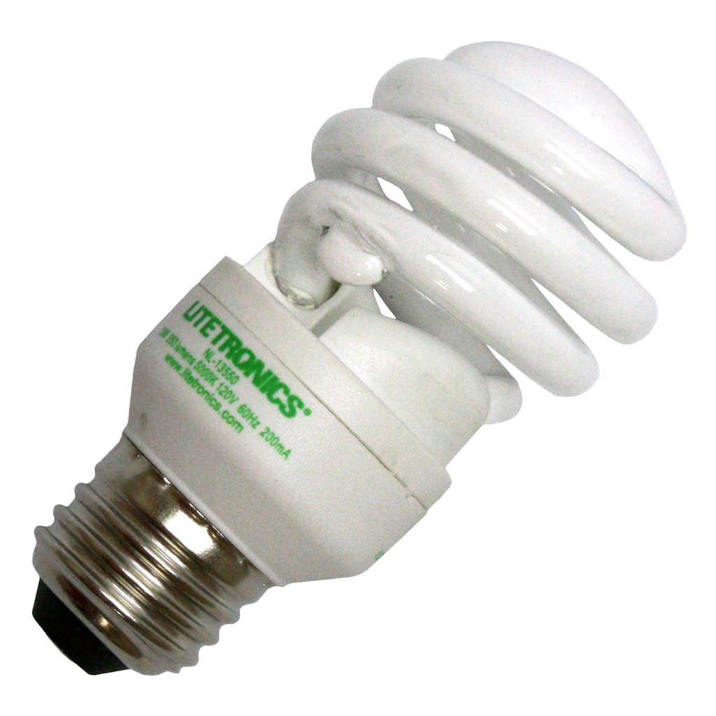 Litetronics 68660 - NL-13550 Twist Medium Screw Base Compact Fluorescent Light Bulb