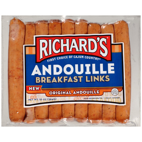 Richard's Original Andouille Breakfast Links, 10 oz
