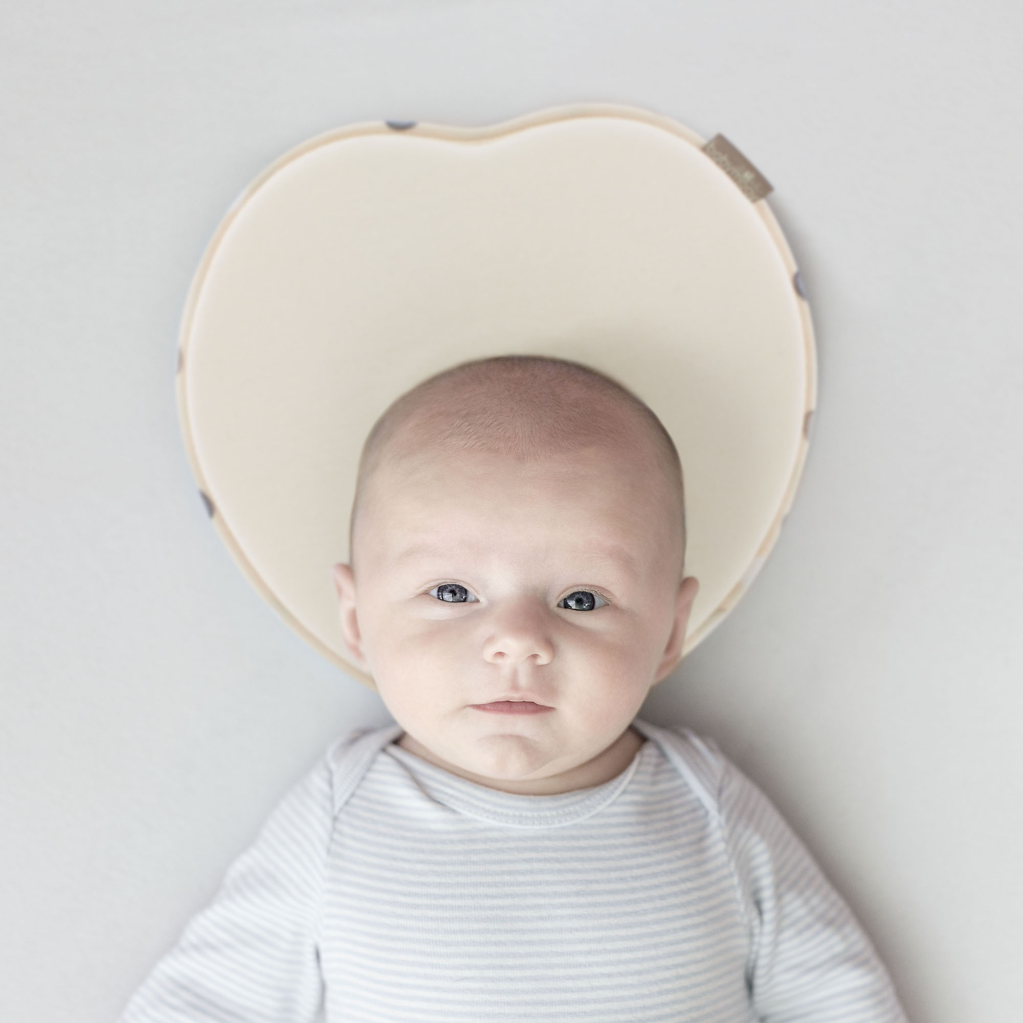 Babymoov Lovenest � Patented Pillow For Baby and Infant Head Support & Flat Head Syndrome Prevention (Ivory) by BABYMOOV