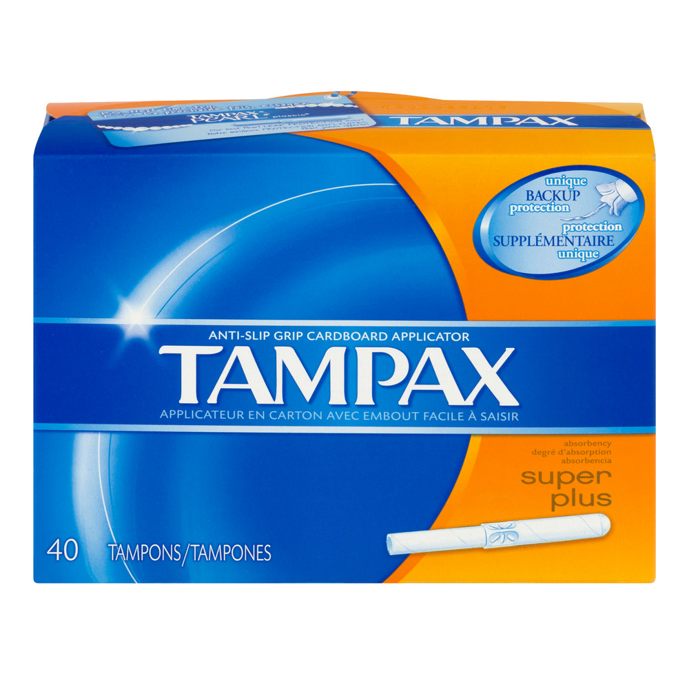 Tampax Anti-Slip Grip Tampons Super Plus - 40 CT