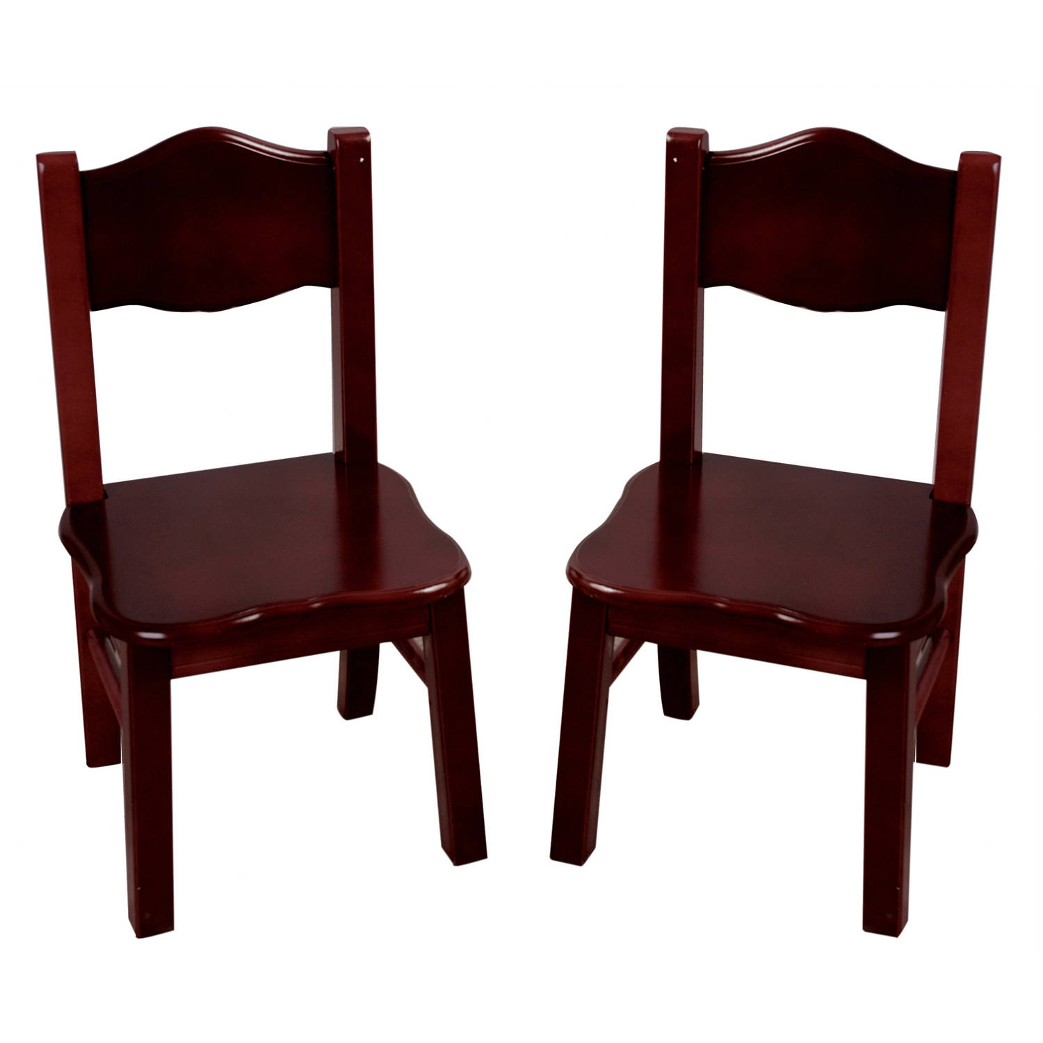 Guidecraft Set of 2 Extra Chairs, Classic Espresso