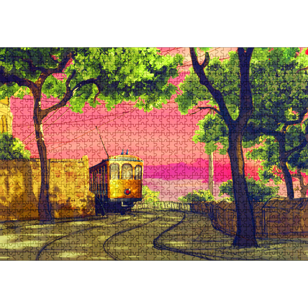 1000PCS DIY Art Collectibles Jigsaw Puzzles Educational Toys Love Tree Pattern