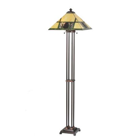 Meyda Tiffany 106488 Two Light Up Lighting Floor Lamp From The Pinecone Collection