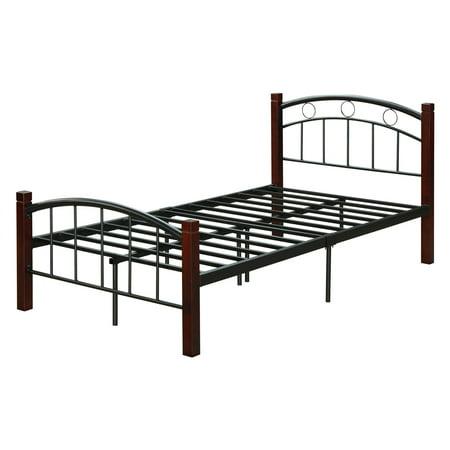 Hodedah Imports Complete Bronze Platform Bed