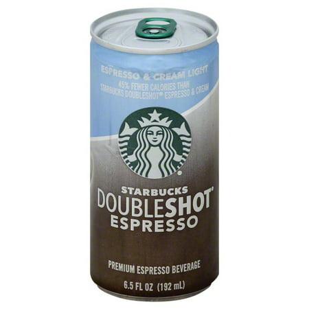 Starbucks Doubleshot Espresso Cream Light Coffee Drink 6 5 Fl Oz