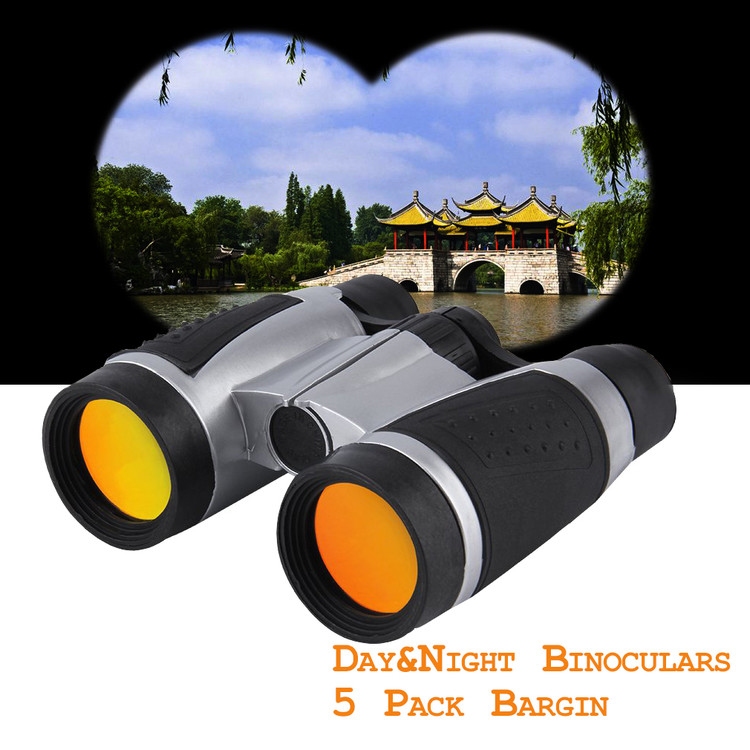 5 PCS Pack Outdoor Folding Binoculars for Day and Night, Mini Binoculars for Travel Night Watching Hunting Telescope Night Vision Binoculars... by