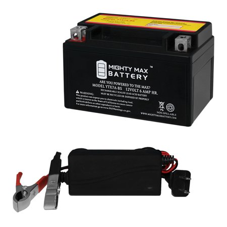 YTX7A-BS Replaces KASEA KS, KU Models 90CC All Years + 12V 1A Charger - image 1 de 6