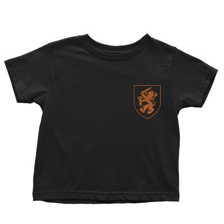 Netherlands Dutch Soccer Jersey Kids Tee Black