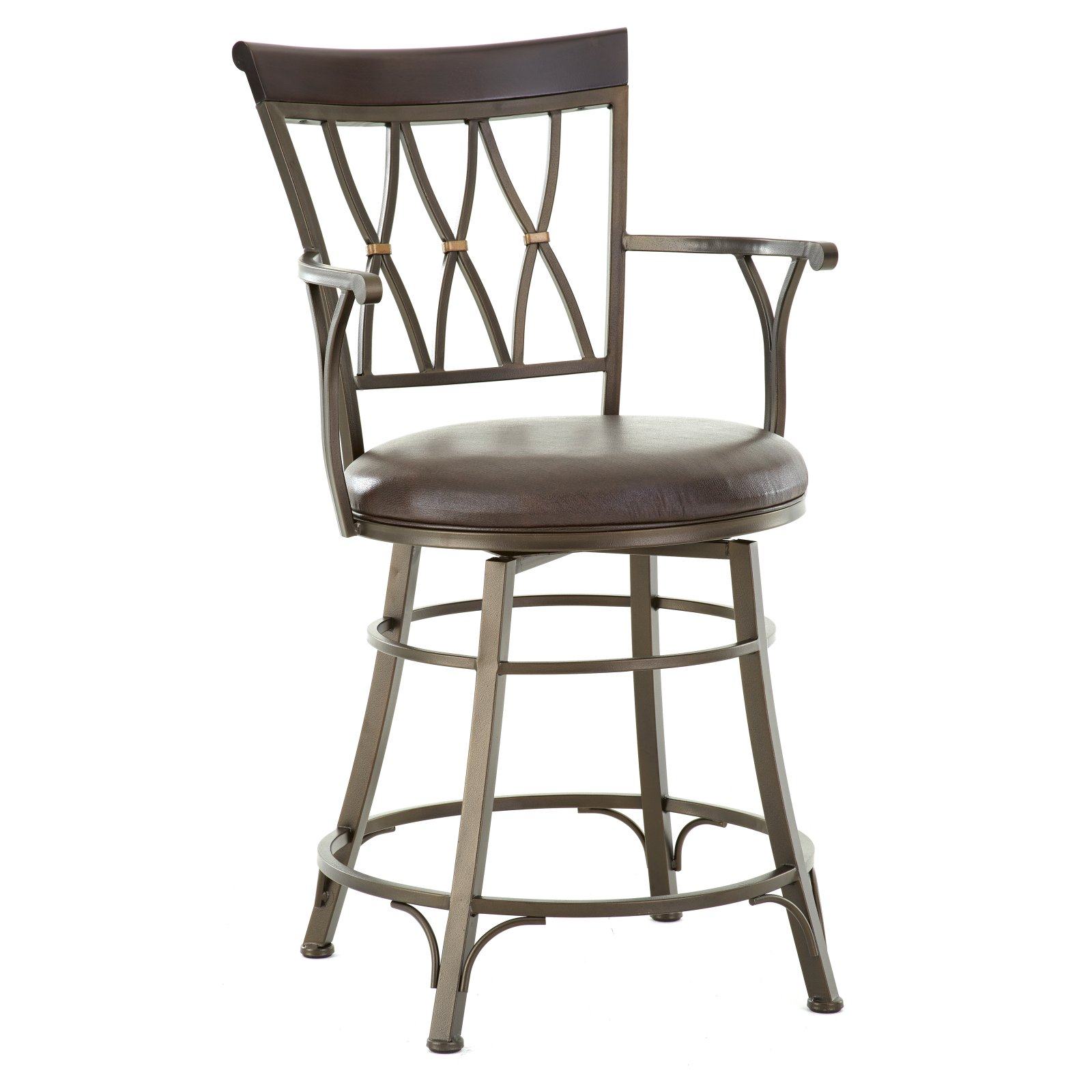 Steve Silver Bali 24 in. Jumbo Swivel Counter Stool with Armrest by Steve Silver Company