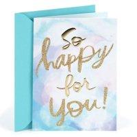 Hallmark, So Happy for You, Congratulations Greeting Card