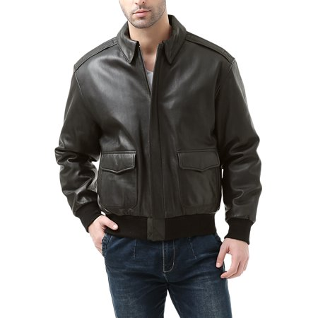 Landing Leathers Mens Premium Air Force A-2 Goatskin Leather Flight Bomber Jacket (Regular & Tall)