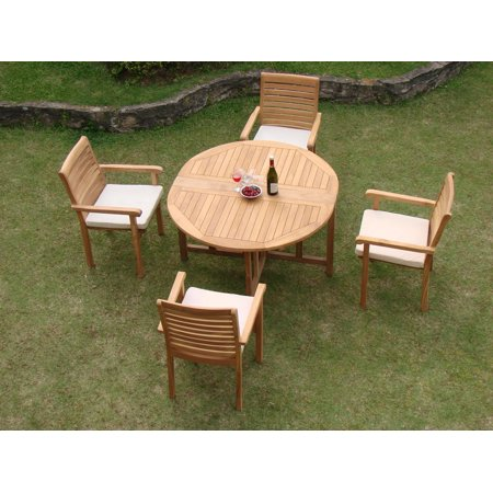 Teak Dining Set:4 Seater 5 Pc - 48\