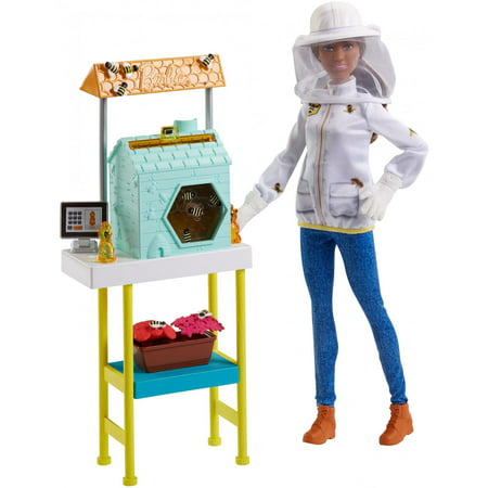 Barbie Careers Beekeeper Doll and Beehive Playset, Brunette Hair