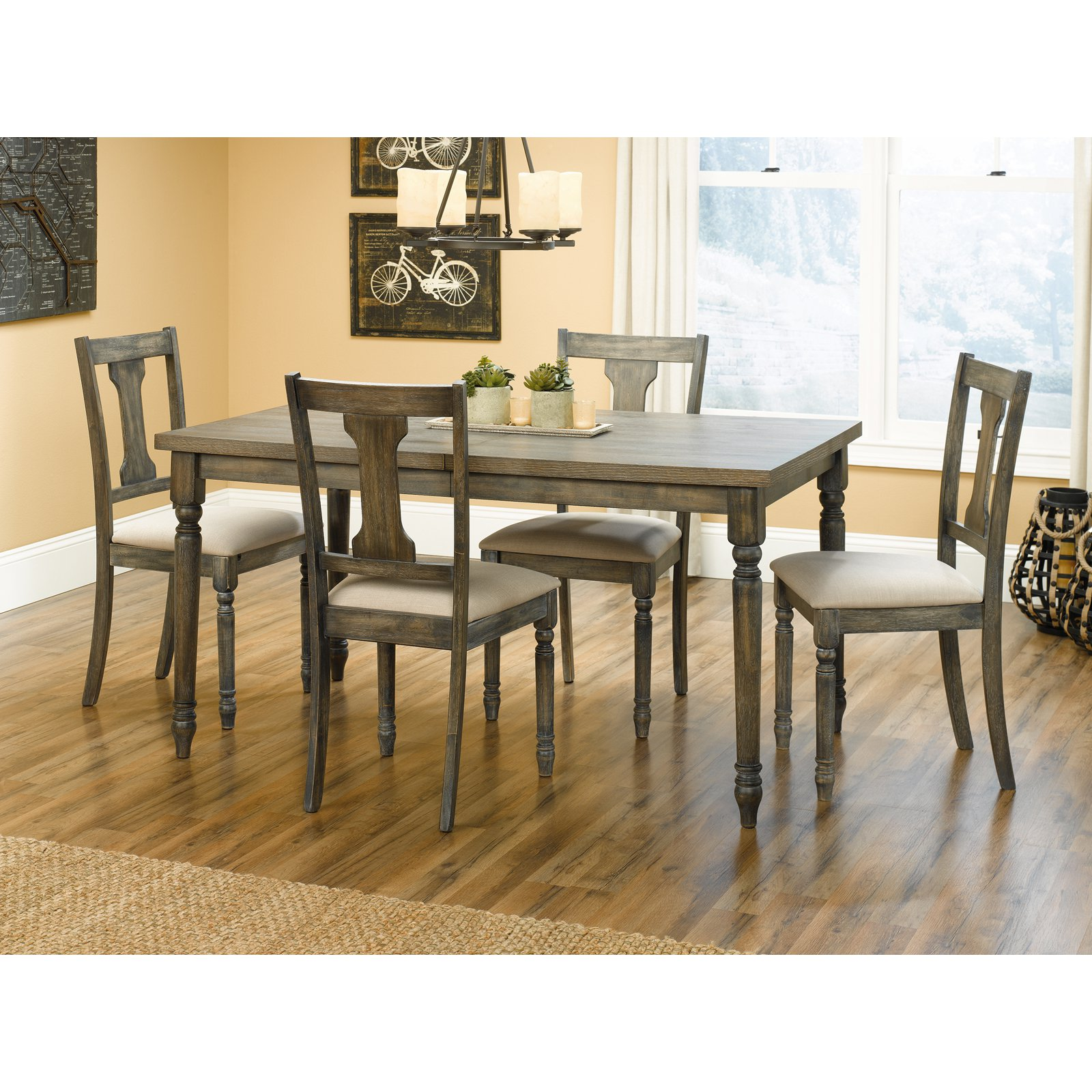 Marvelous Sauder Barrister Lane 5 Piece Dining Table Set   Walmart.com