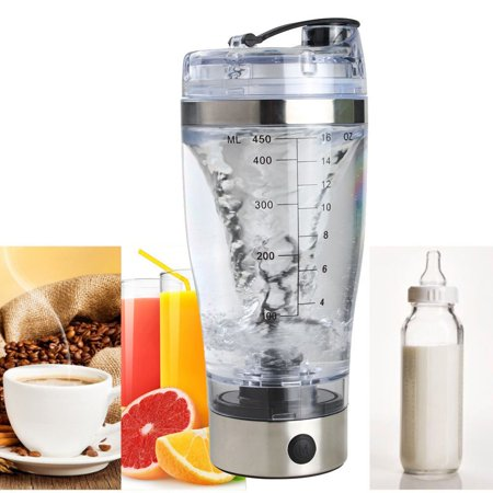 450ML Electric Protein Shaker Bottle Vortex Mixer Drink Blender Cup USB Charge For Home Sports Gym