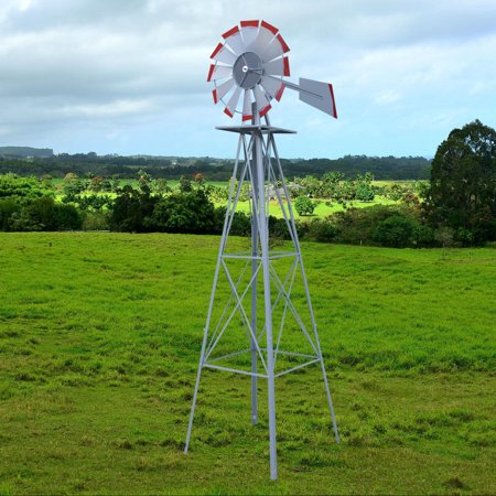 Weathervane Stand (Zeny 8' Windmill Ornamental Garden Weathervane -)