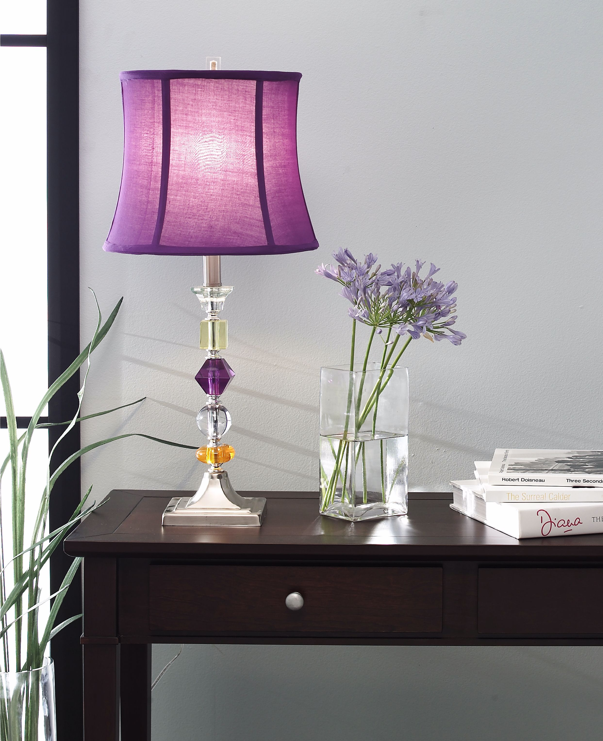 360 Lighting Multi Colored Modern Table Lamp Clear Stacked
