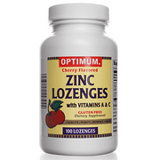 Zinc Lozenges   With Vitamin A & C   100 Count   Gluten Free   Dietary Supplement