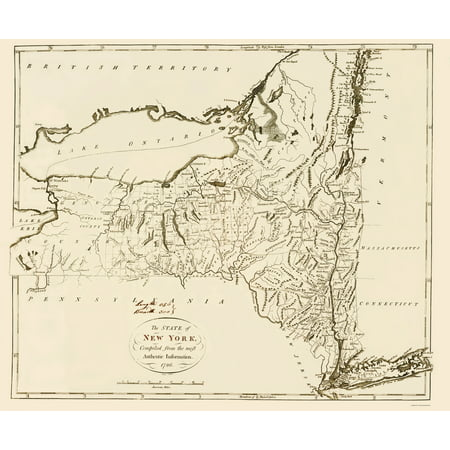 State Map New York.Old State Map New York 1796 23 X 27 79 Walmart Com