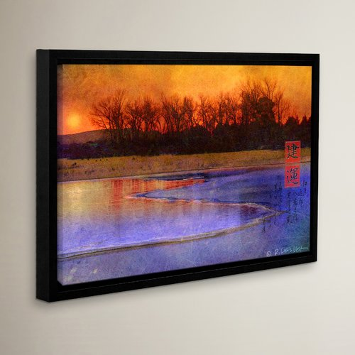 Loon Peak Frozen Summit Framed Graphic Art on Wrapped Canvas