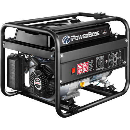 Briggs & Stratton 3,500 watt PowerBoss Portable Generator Briggs & Stratton Electric Generator